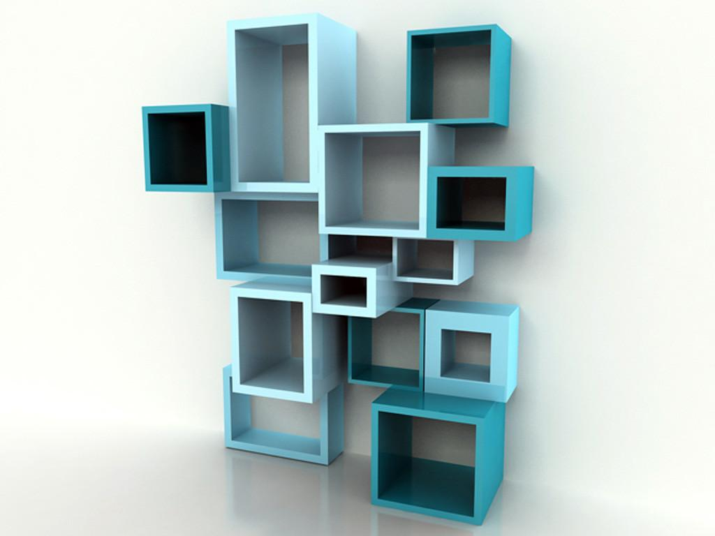 Attractively Unique Modern Wall Bookshelves