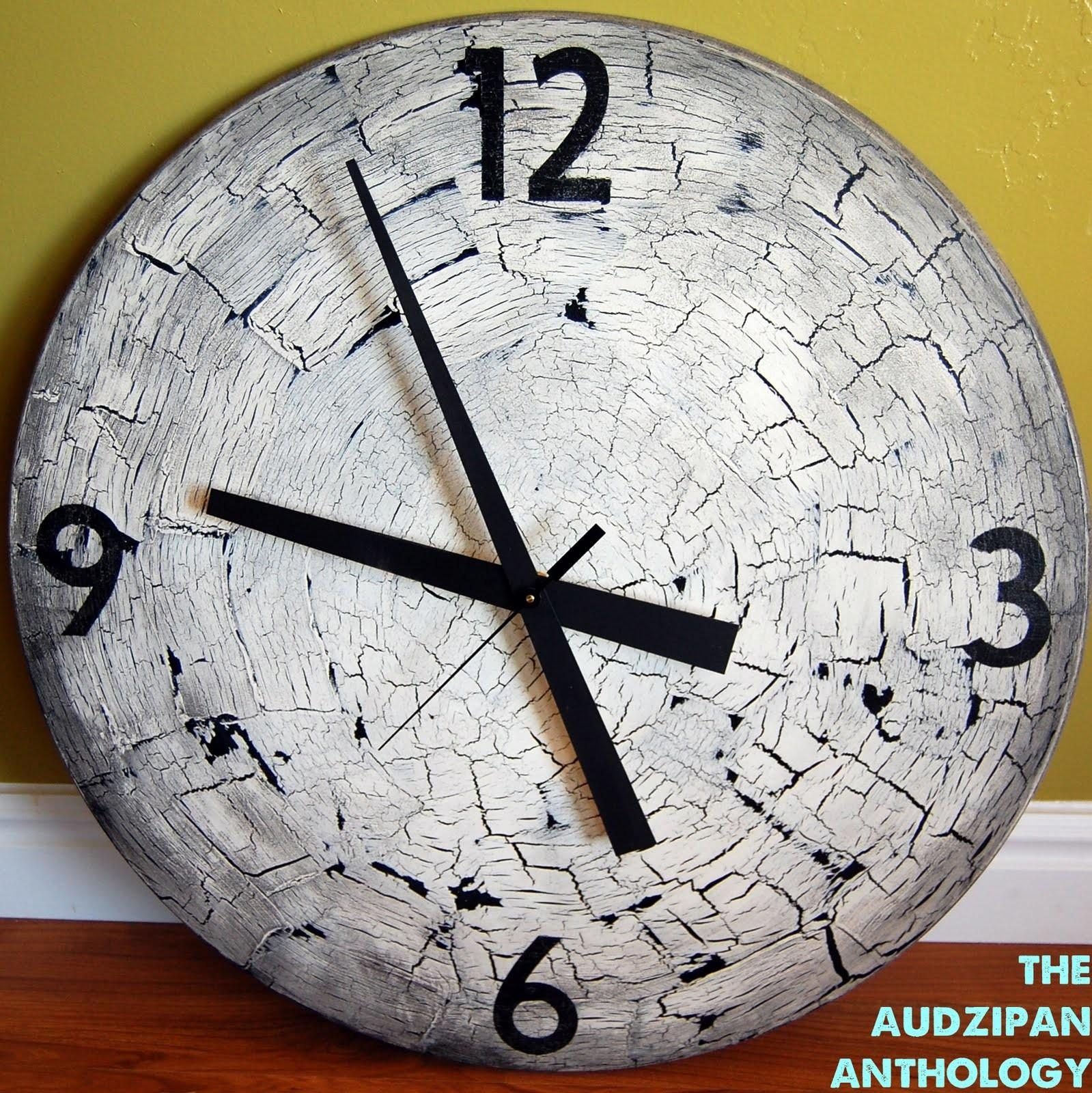 Audzipan Anthology Diy Big Wall Clock