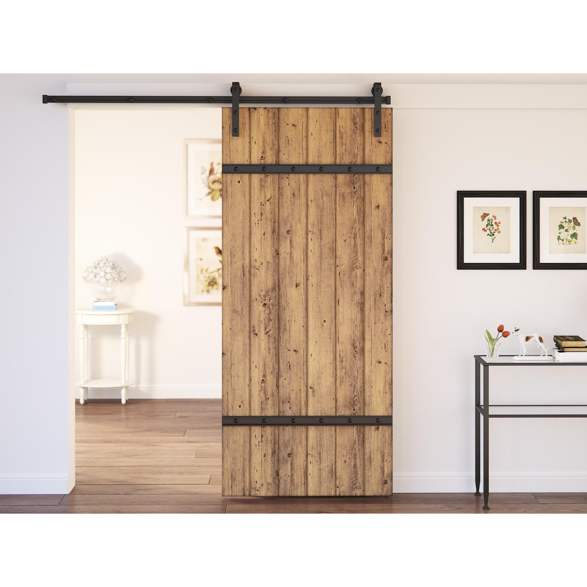 August Grove Caddie Panel Interior Barn Door