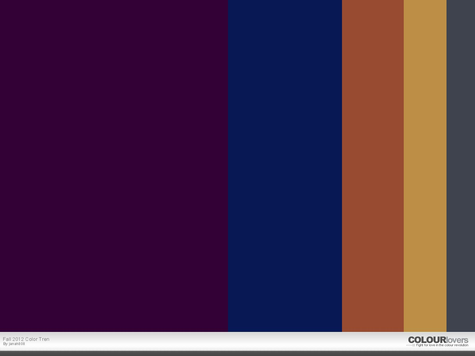 August Wrinkle Color Palette Fall 2012