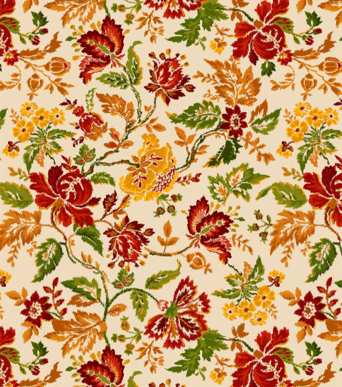 Autumn Inspirations Harvest Fabric Crewel Ivory Ann