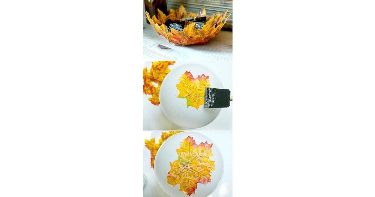 Autumn Leaf Bowl Diy Gifts Workers Cousins