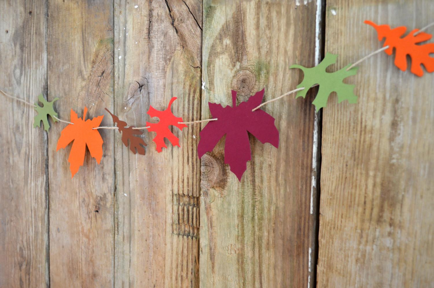 Autumn Leaf Garland Kit Diy Reusable Customizable Fall