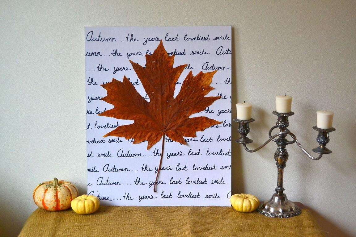 Autumn Leaf Wall Art