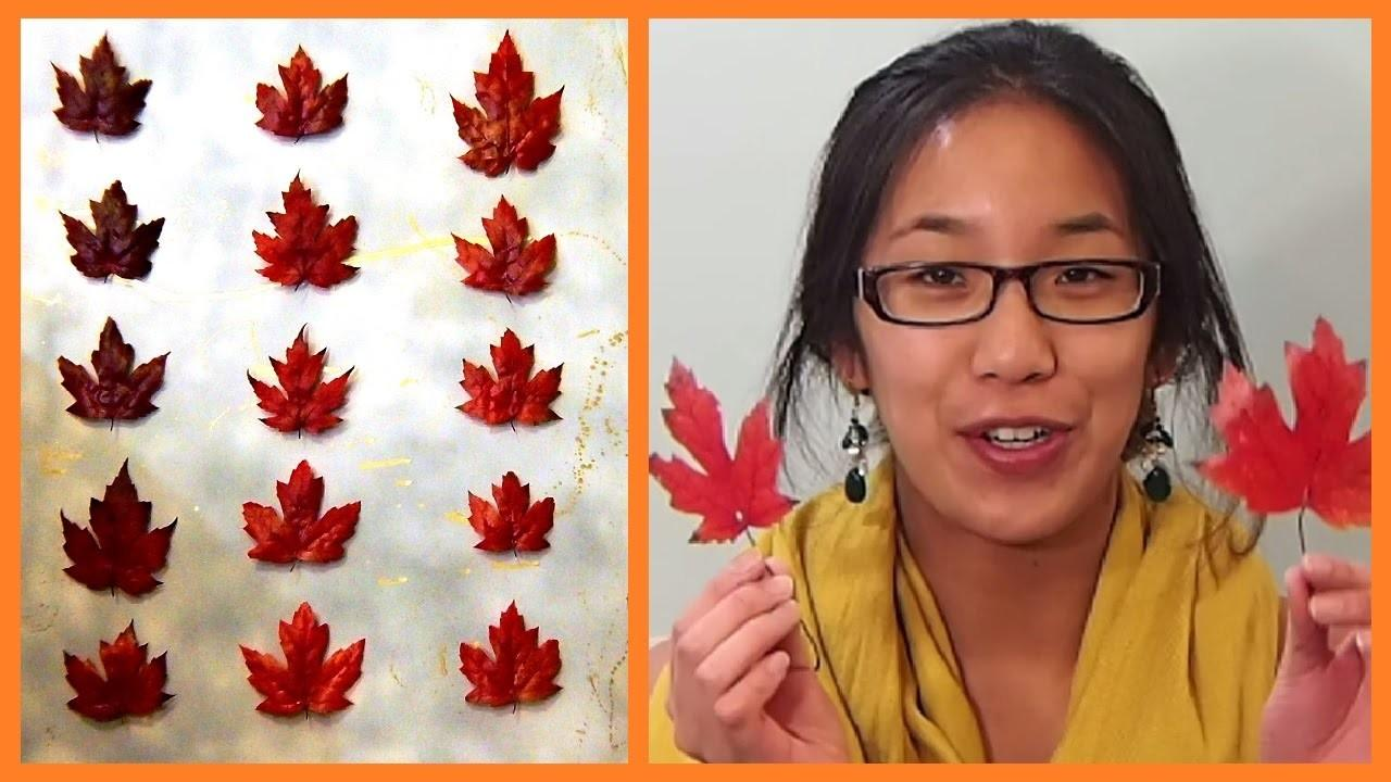 Autumn Leaves Preserved Inspired Diy