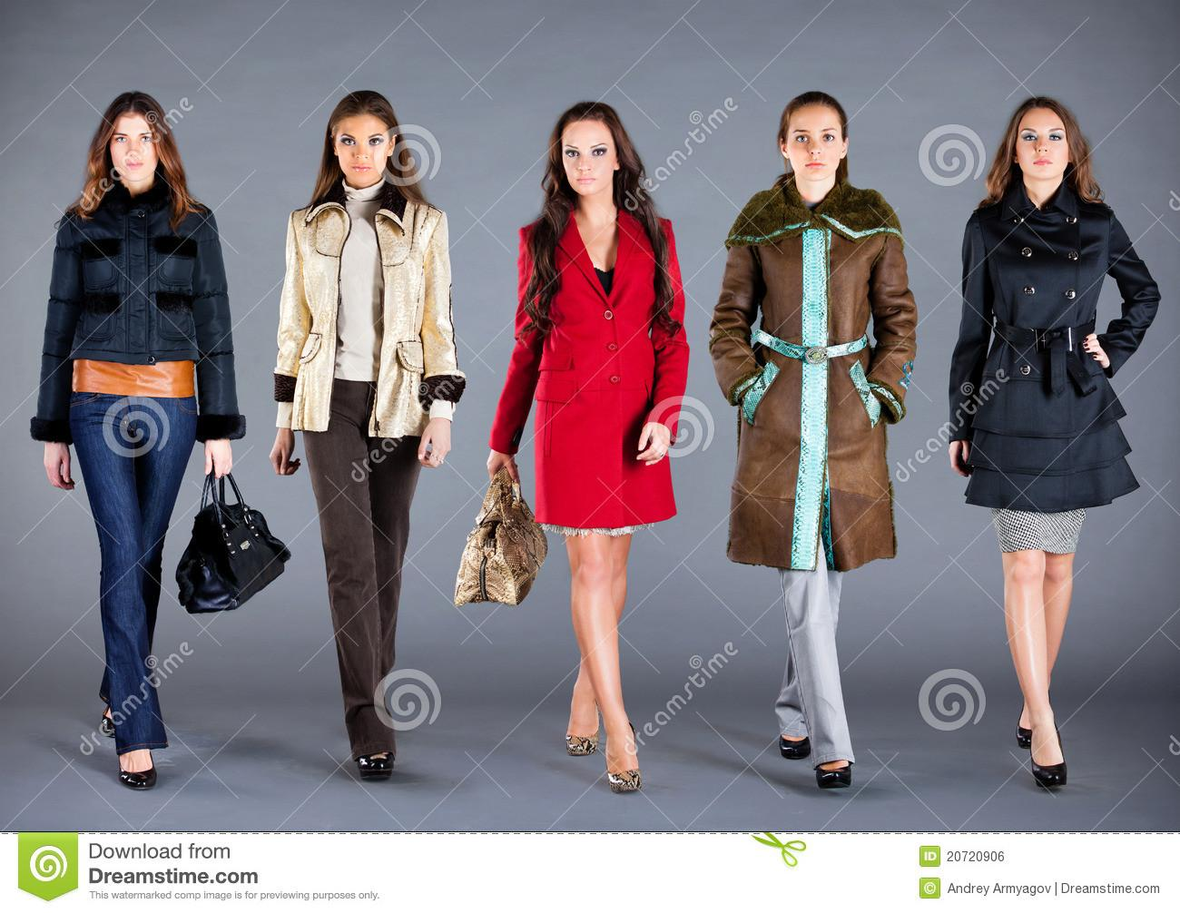 Autumn Winter Collection Lady Clothes Stock