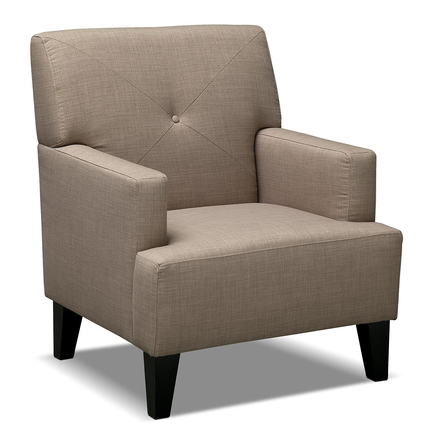 Avalon Accent Chair Wheat Value City Furniture