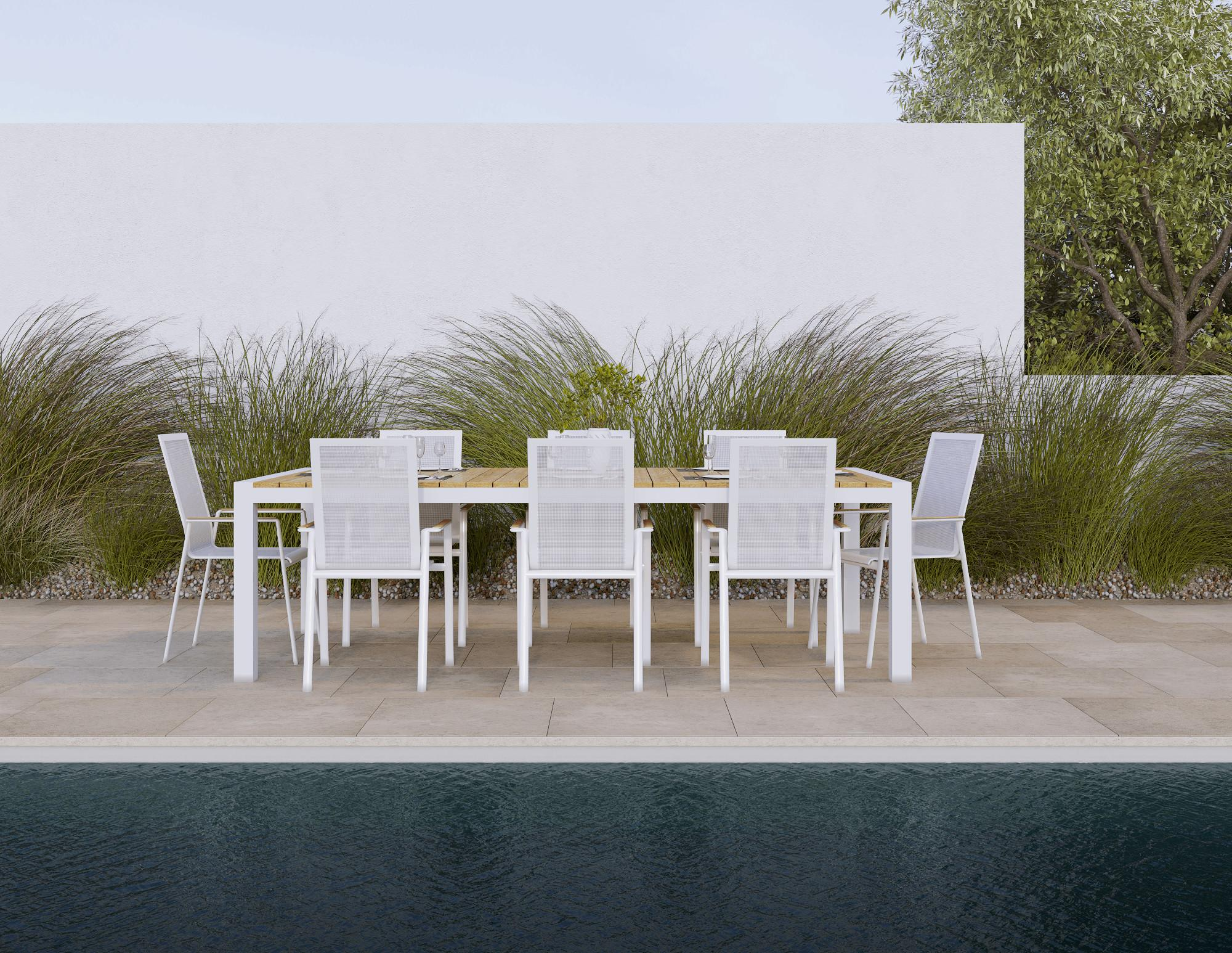 Aviana Modern Outdoor Dining Chair White Your Patio