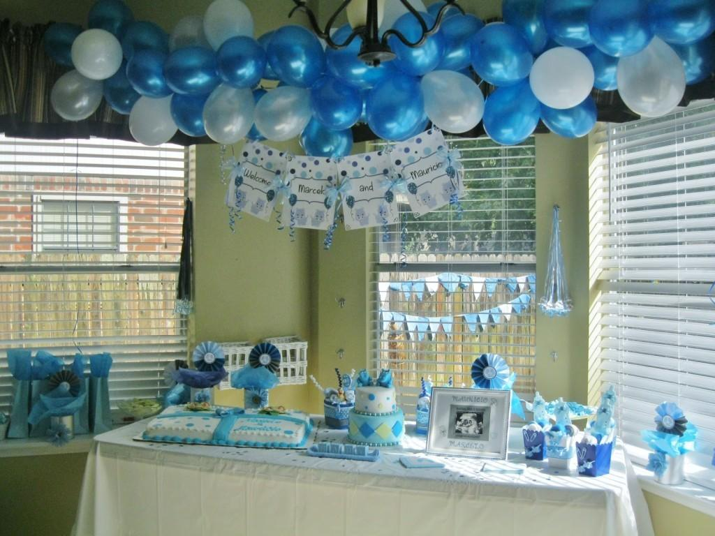 Awesome Baby Shower Balloons Boys Simple Design