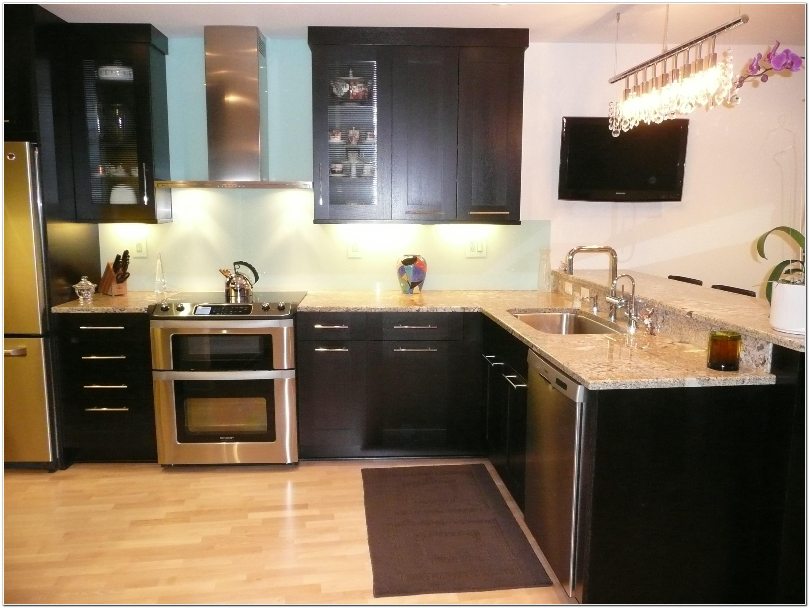Awesome Black Kitchen Cabinets White Marble