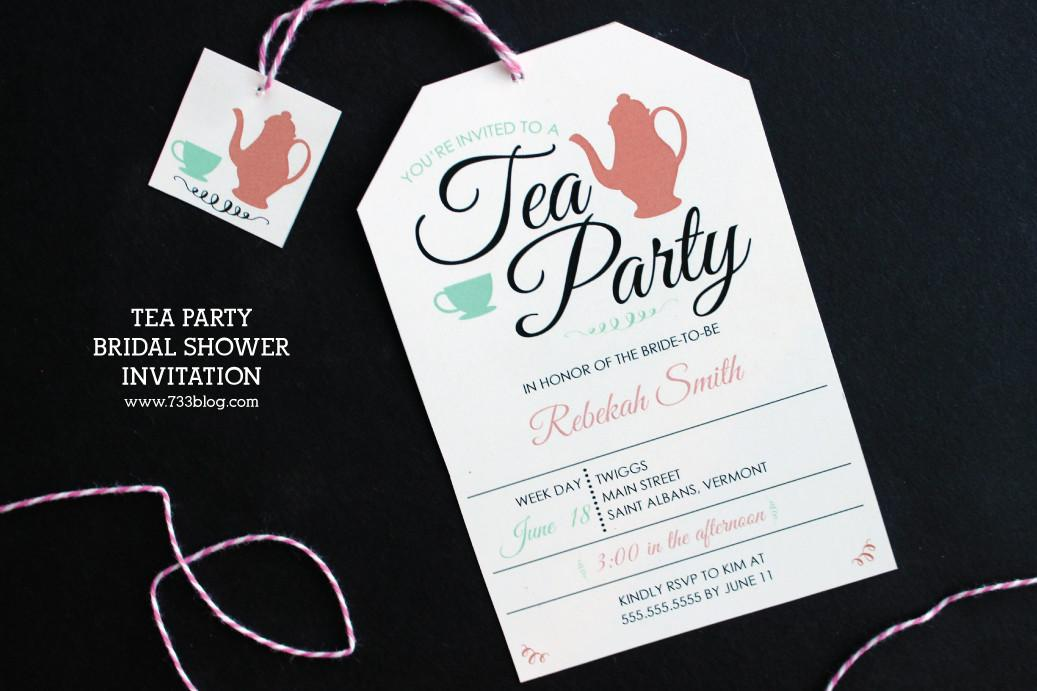 Awesome Bridal Shower Invitations Tea Party Ideas