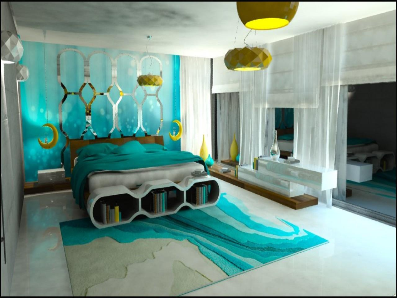 Awesome Brown Turquoise Bedroom Ideas Black Teal