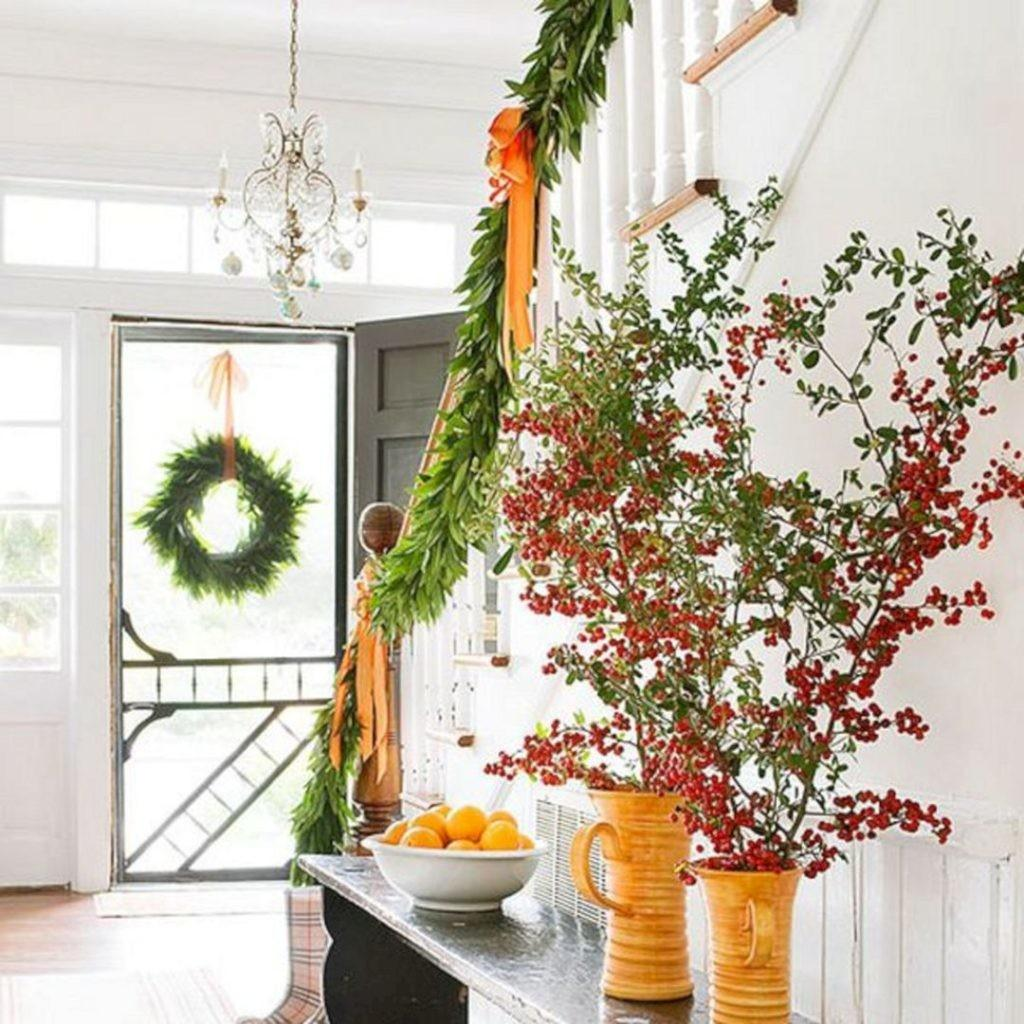 Awesome Christmas Staircase Decor Ideas Spaces