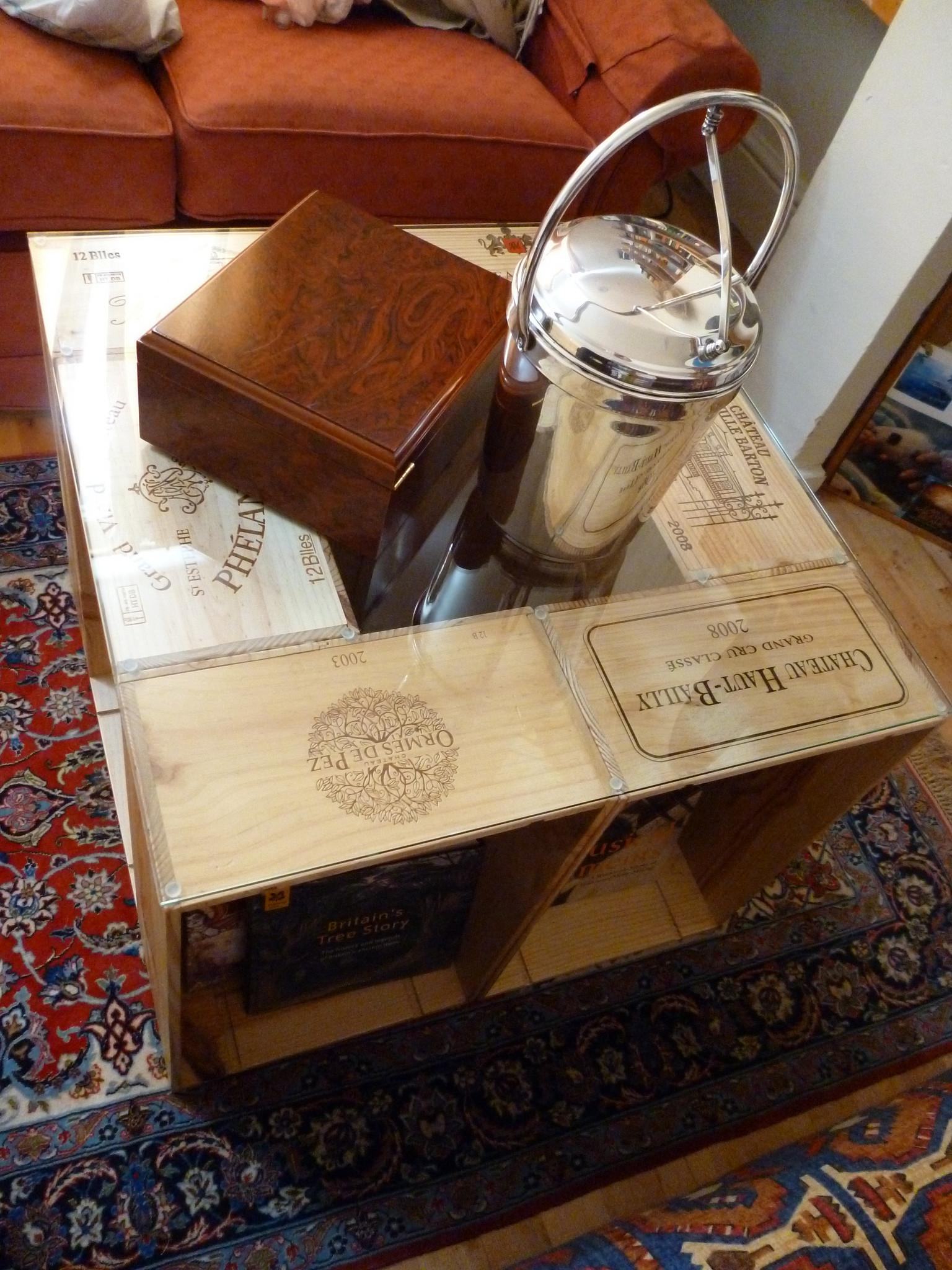 Awesome Coffee Table Made Out Wine Crates Sarjaopas