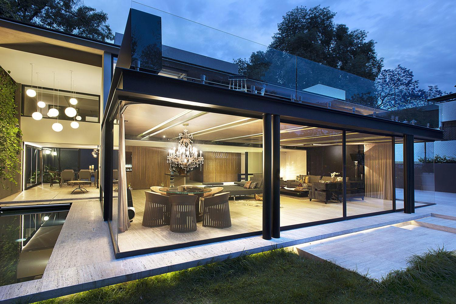 Awesome Concrete Homes Glass House Modern