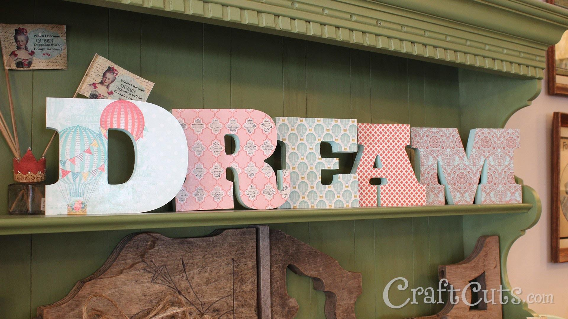 Awesome Decorating Wooden Letters