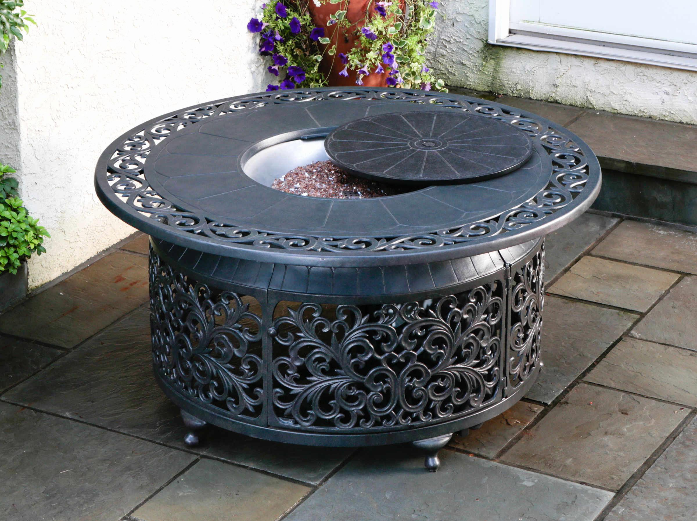 Awesome Diy Gas Fire Pit Table Home Furniture Ideas