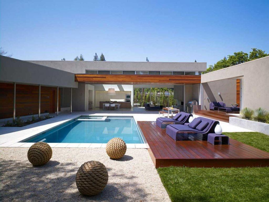 Awesome Flat Roof Garden Ideas Pool Contemporary