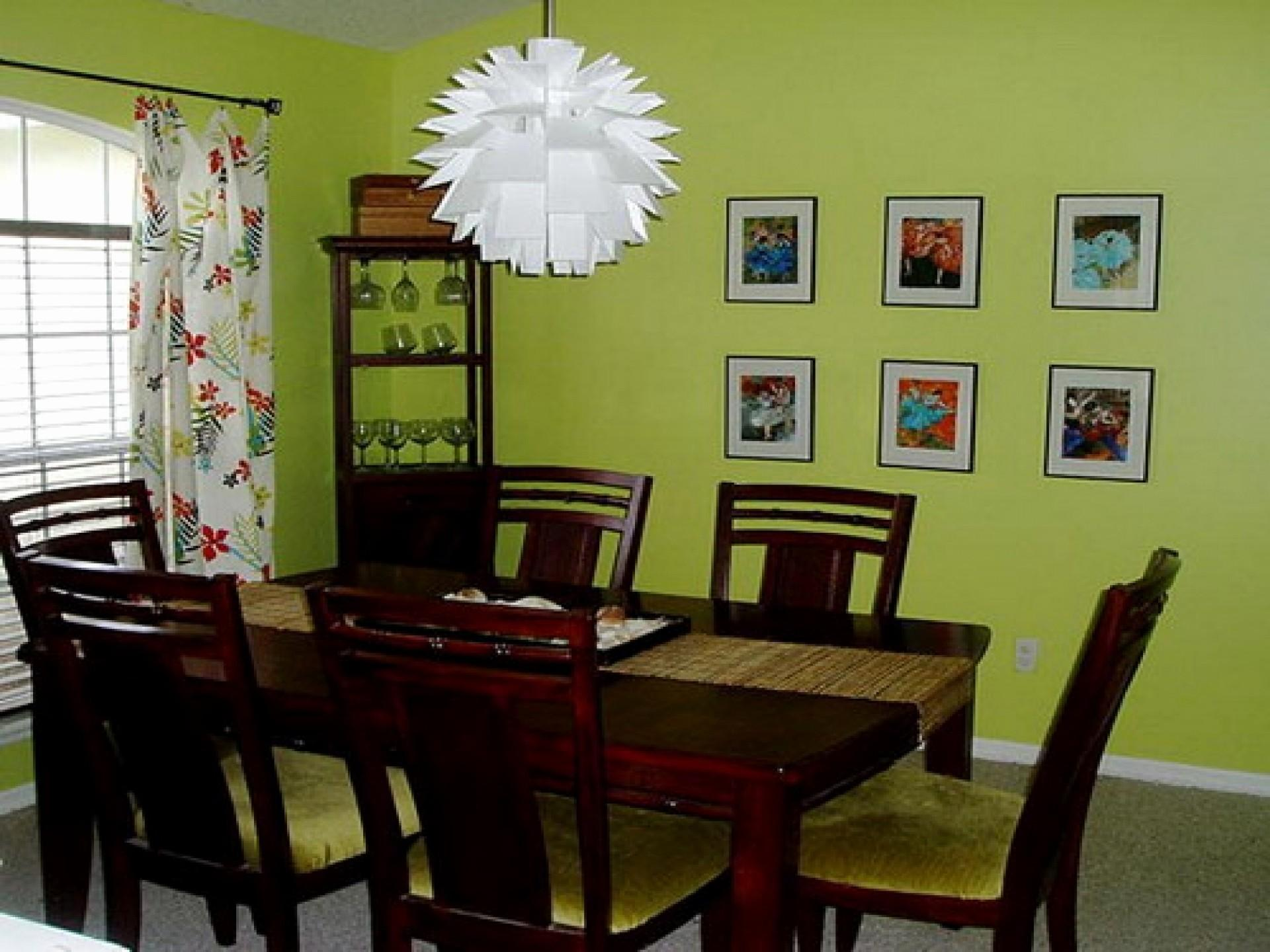 Awesome Green Color Dining Room Ideas Light