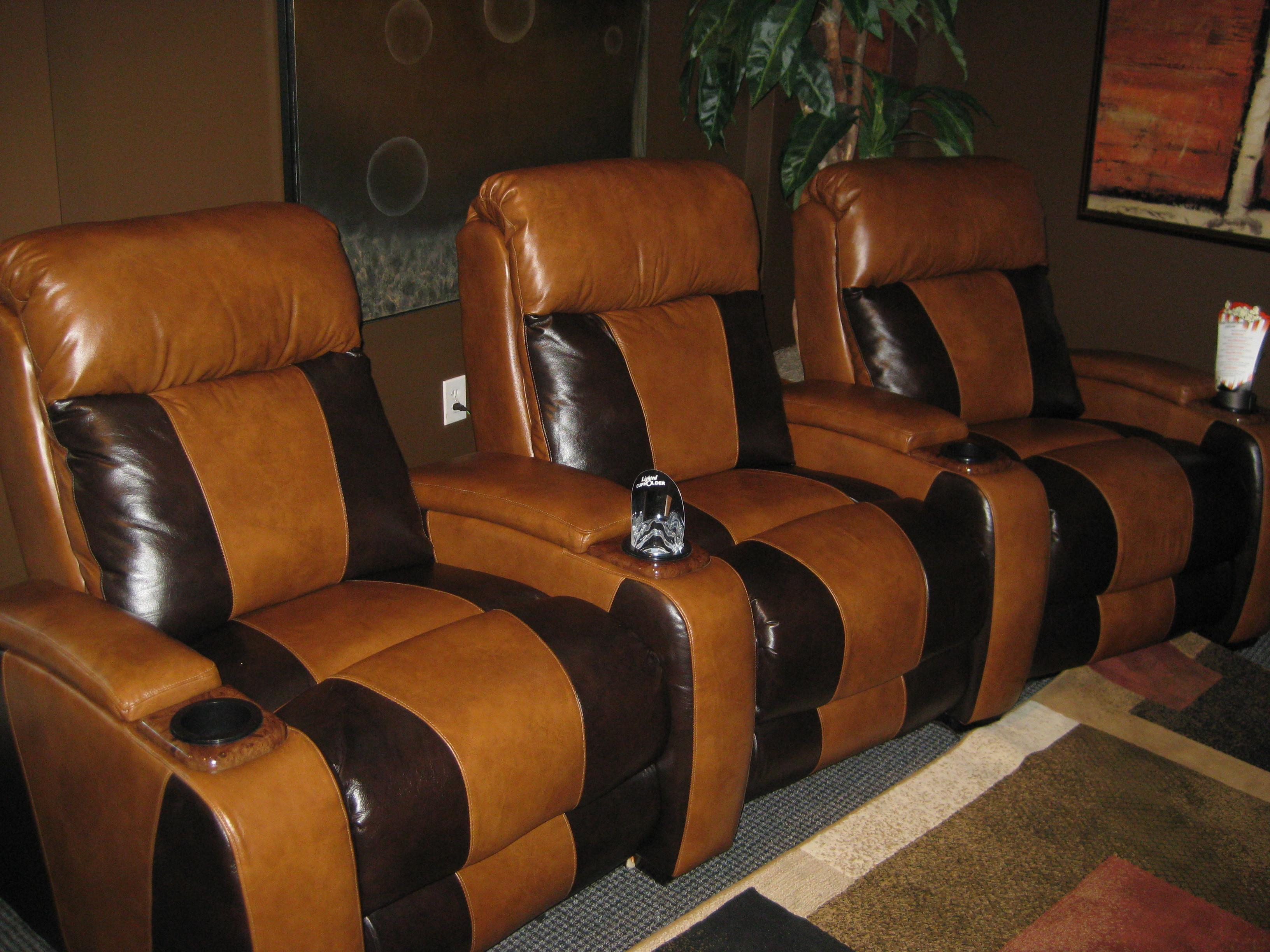 Awesome Grey Wood Glass Modern Design Home Theater