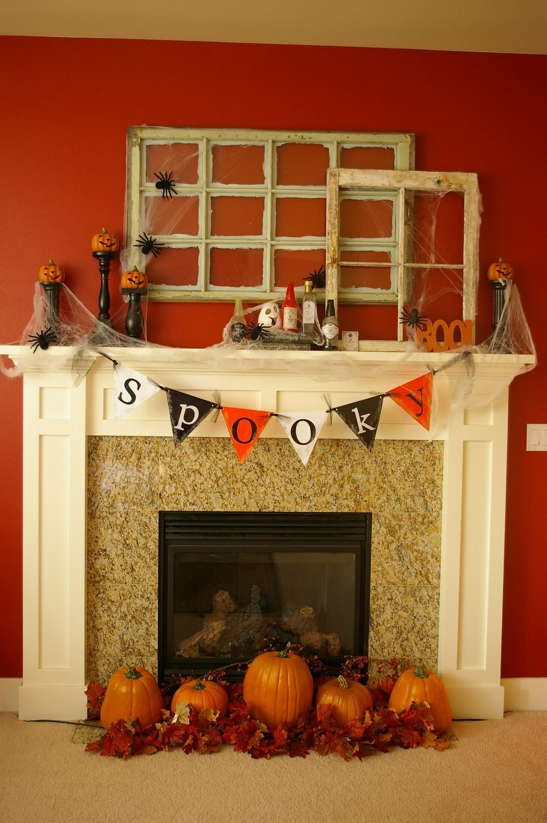 Awesome Halloween Decorating Ideas Orange Wall Flag