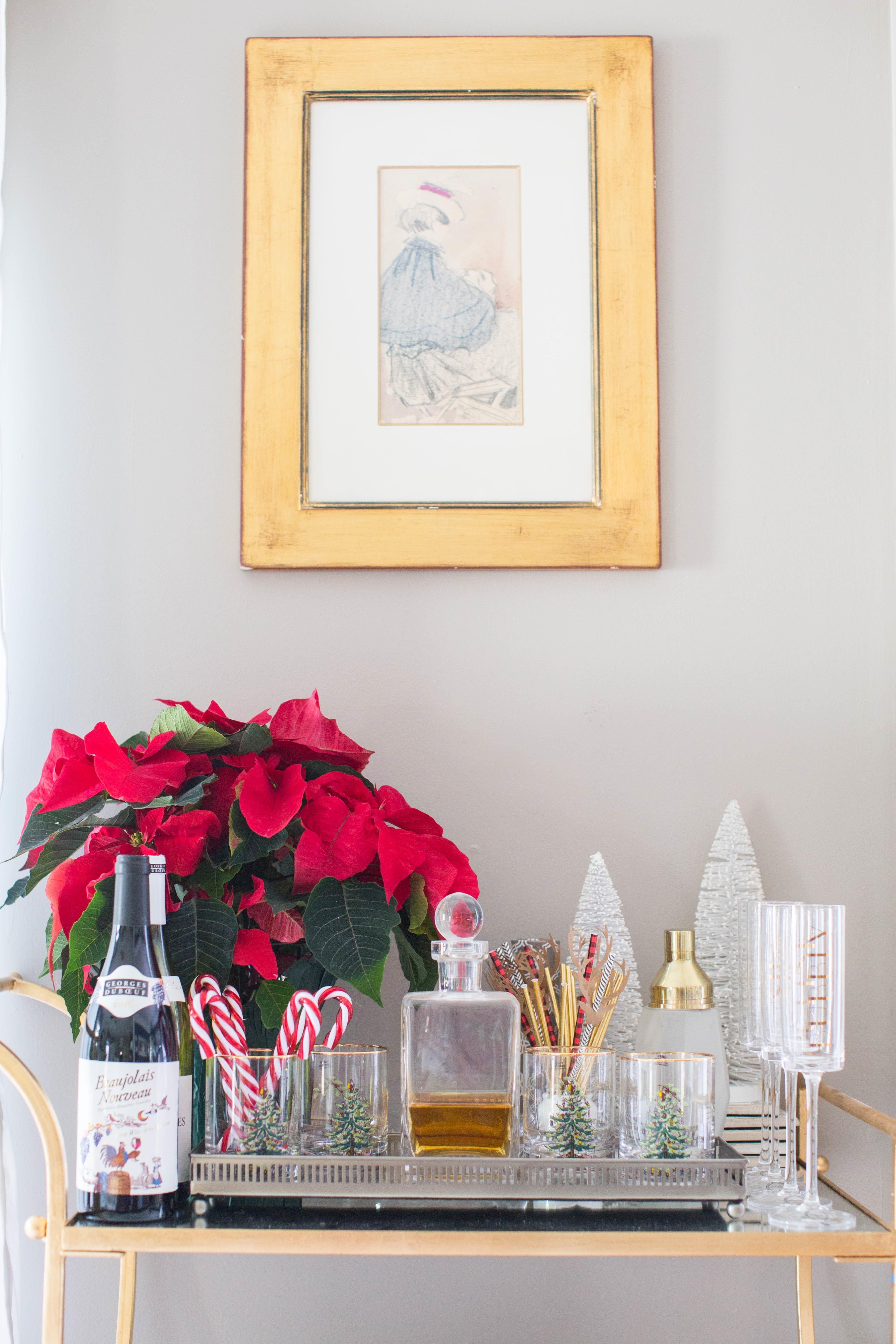 Awesome Holiday Bar Cart Ideas Coffee Beans Bobby Pins