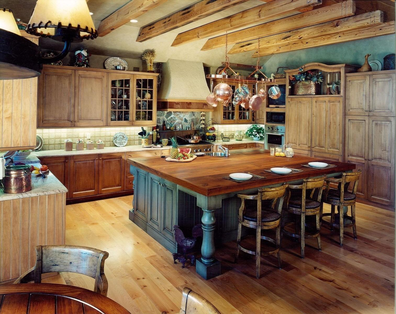 Awesome Kitchen Island Rustic Combined Classic Styled