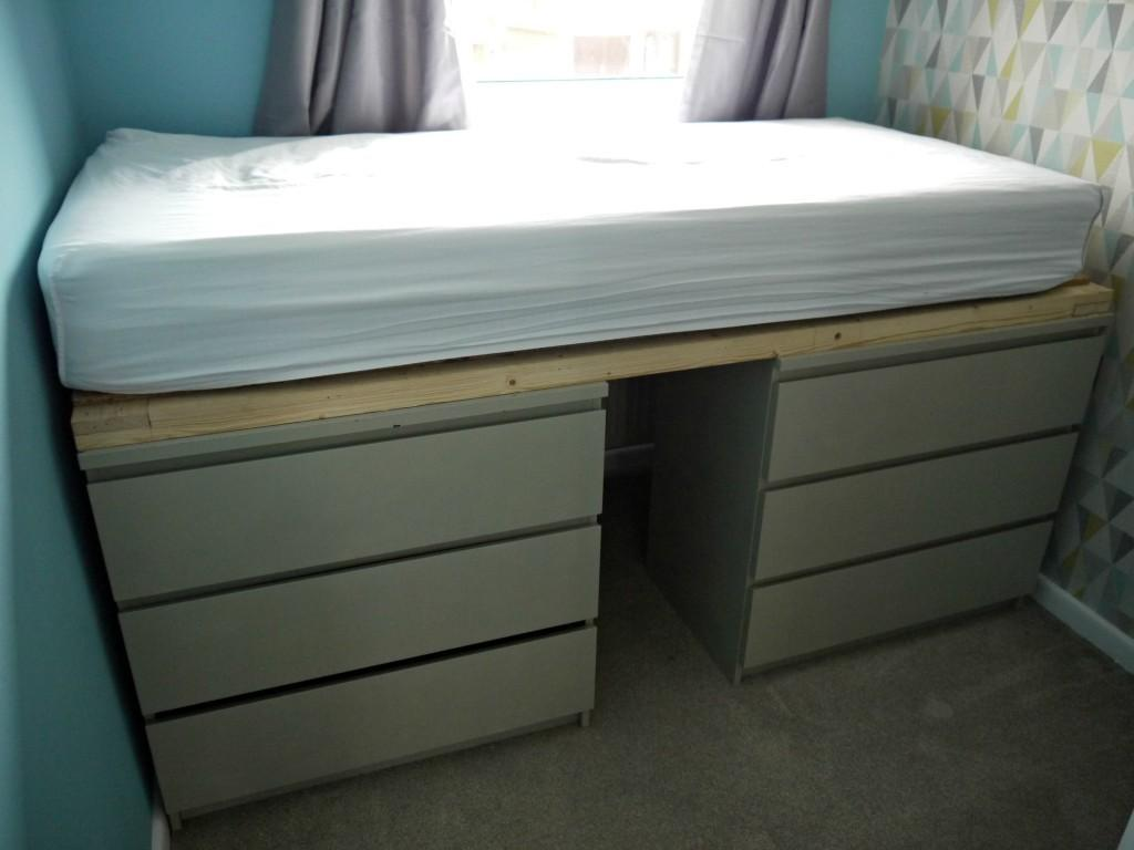 Awesome Malm Hack Bed Decorating Design Ideas