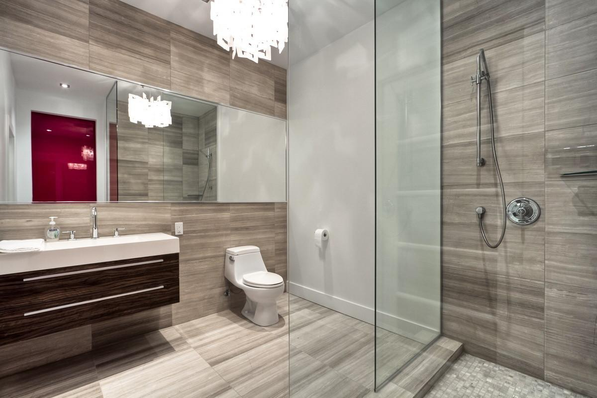 Awesome Modern Bathrooms Glass Showers Ideas