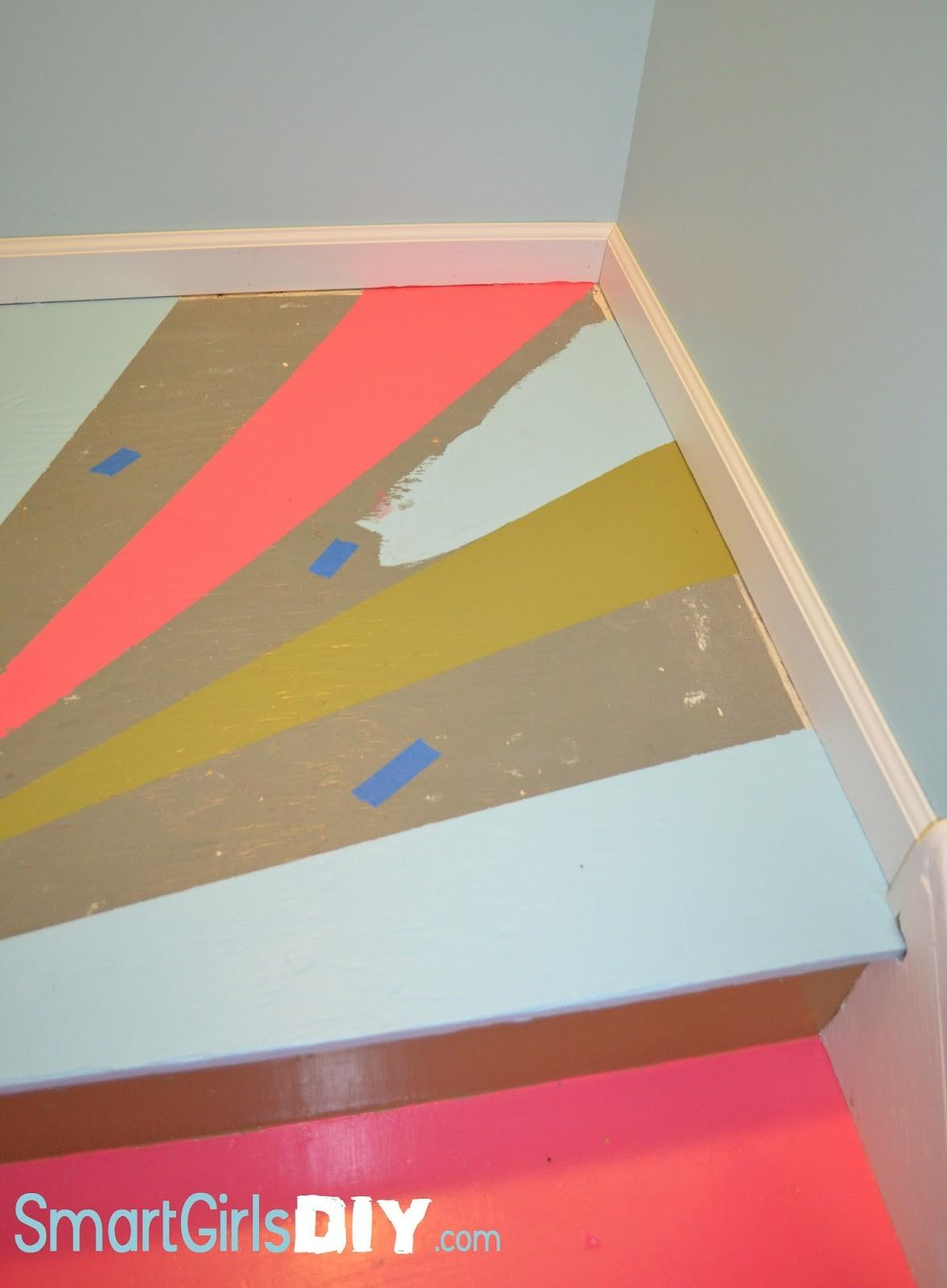 Awesome Painted Basement Stairs