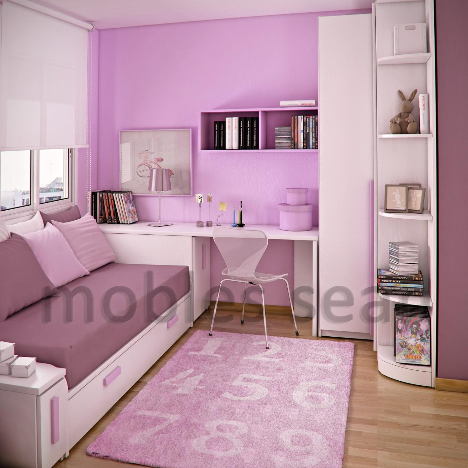 Awesome Pink White Wood Glass Cool Design Decoration Baby
