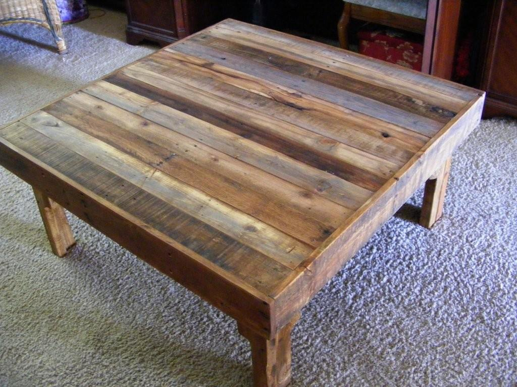Awesome Reclaimed Wood Coffee Table Floral Design