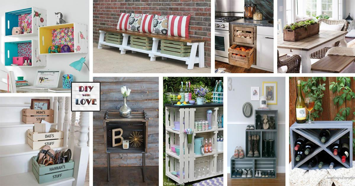 Awesome Repurposed Wooden Crates Projects