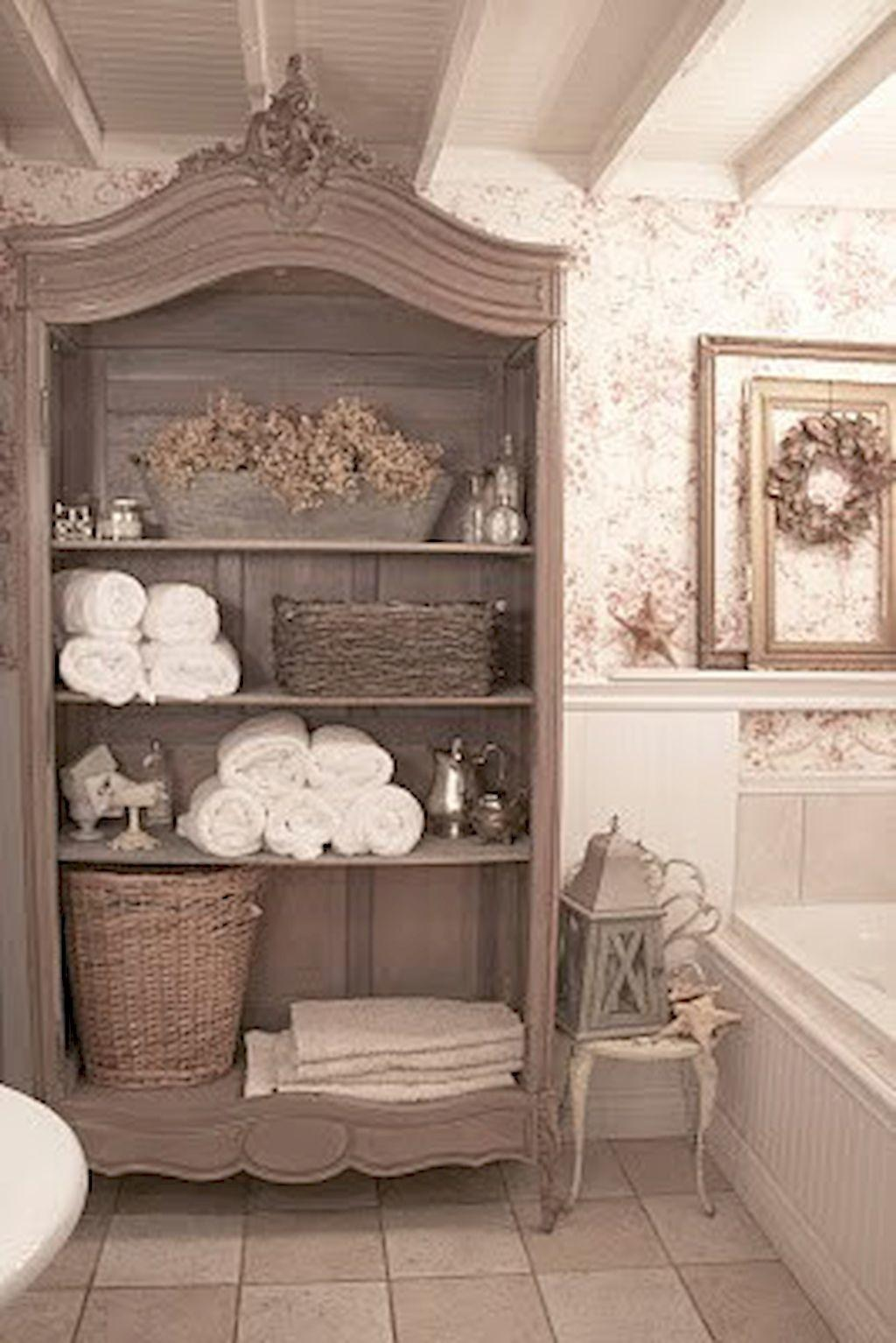 Awesome Shabby Chic Bathroom Decoration Ideas