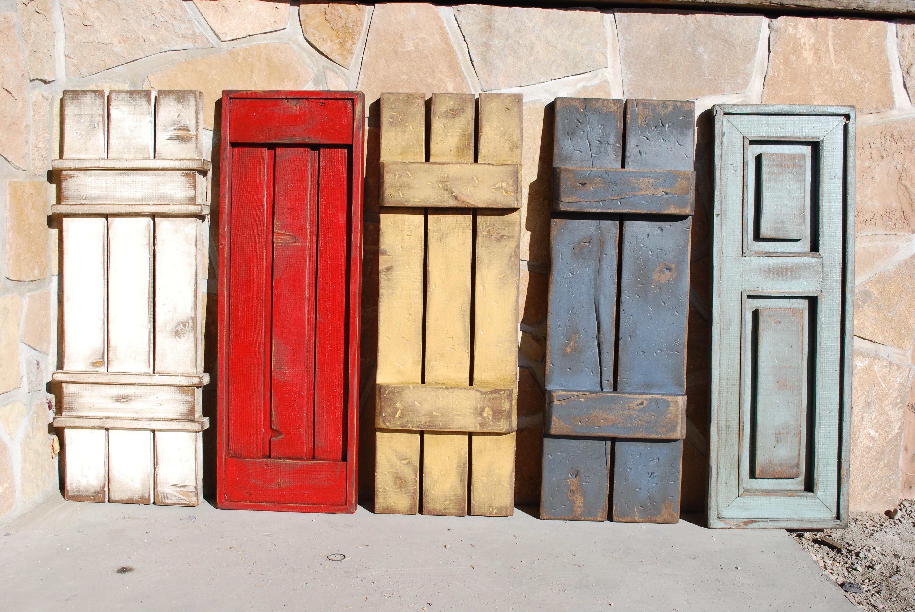 Awesome Shutter Wall Decor Ideas Rustic Shutters - Decoratorist