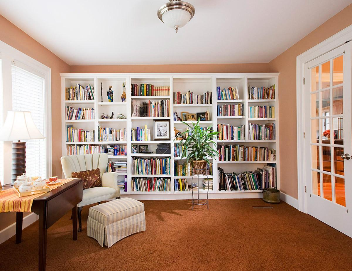 Awesome Small Home Library Reading Room Design Howiezine