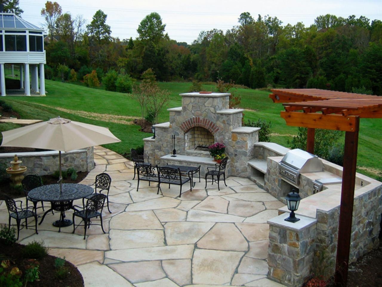 Awesome Stone Patio Design Ideas Contemporary