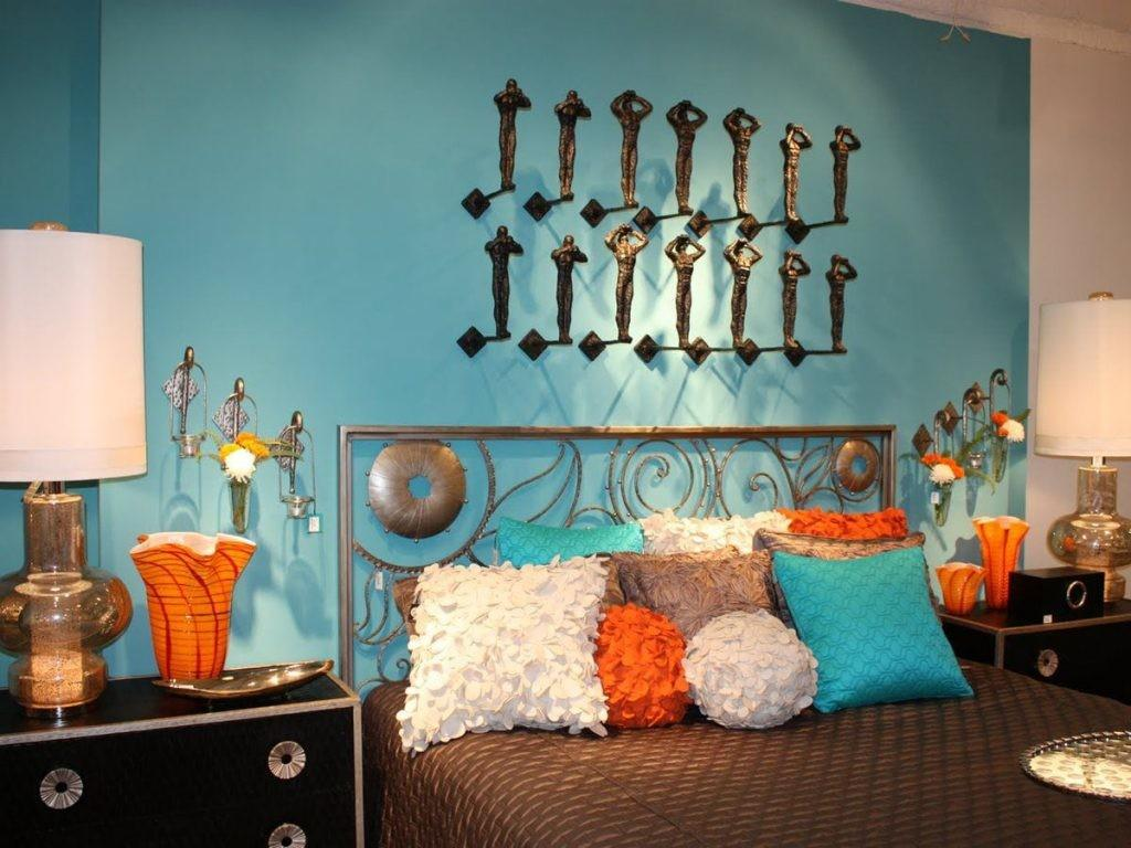 Awesome Turquoise Orange Decor Modern Home