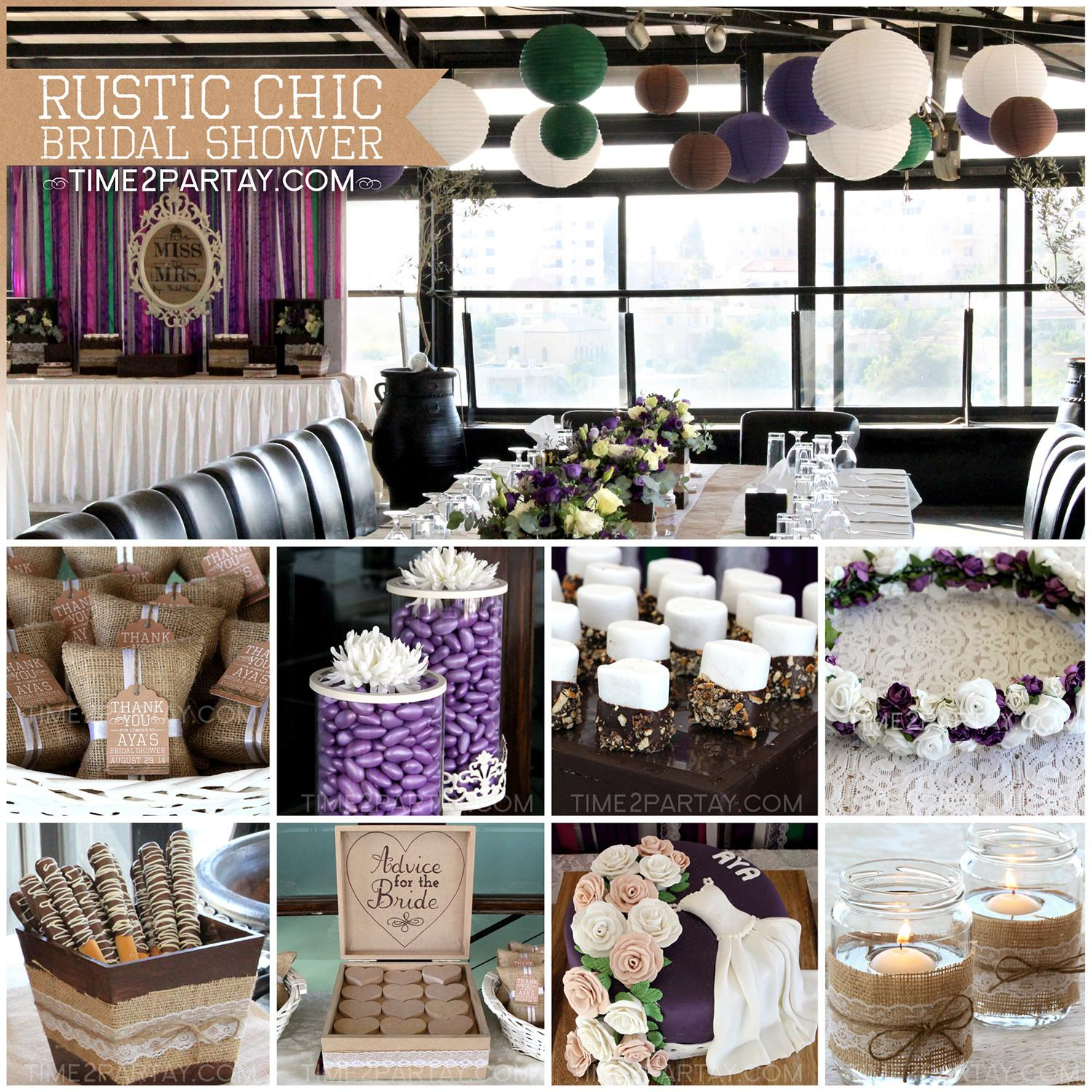Aya Rustic Chic Bridal Shower Time2partay