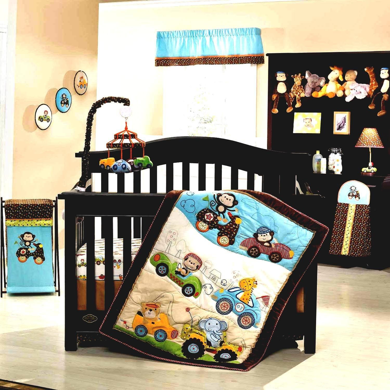 Baby Boy Nursery Bedding Ideas Black Crib Glass