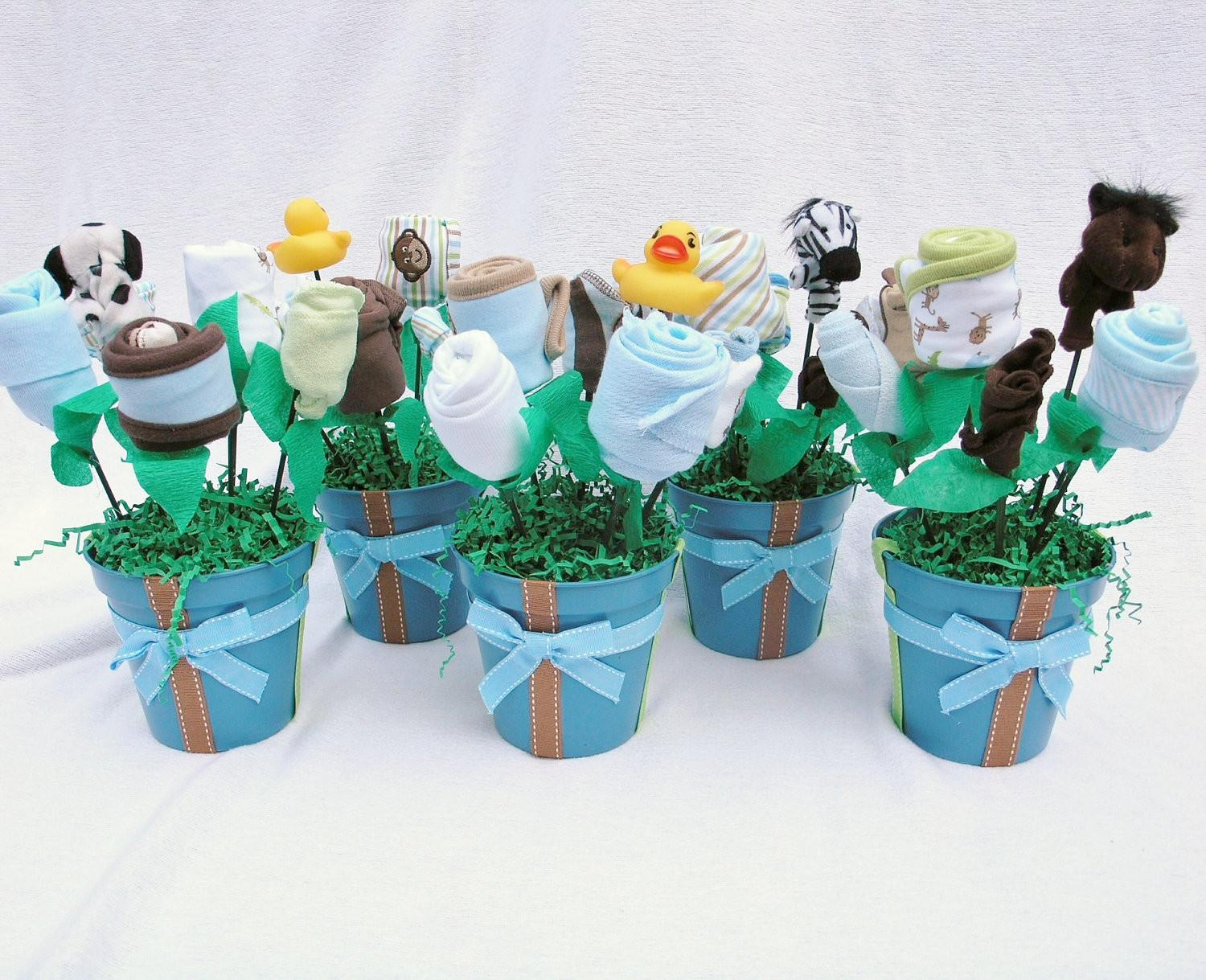 Baby Boy Shower Centerpieces Tables
