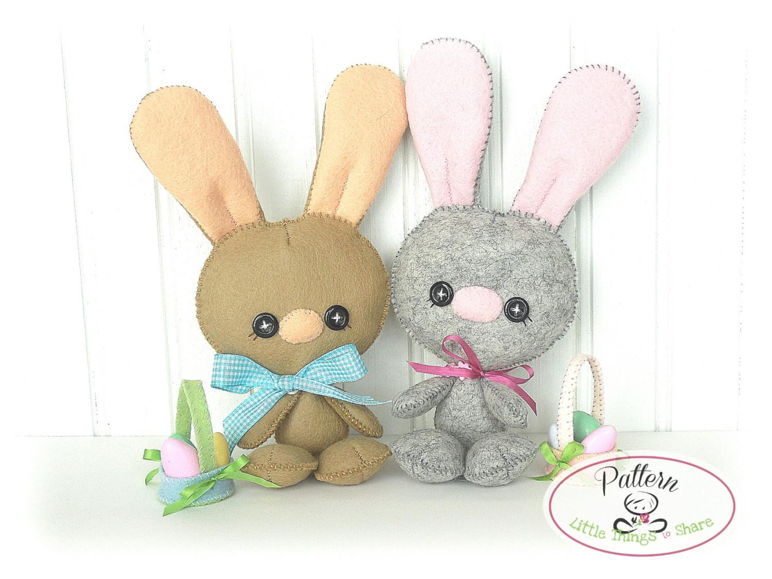 Baby Bunny Pdf Pattern Easter Sewing Cute Rabbit