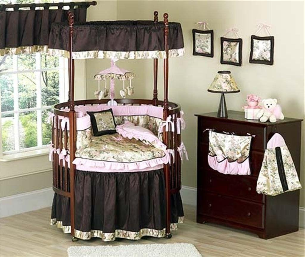 Baby Cribs Convertible Canopy Round
