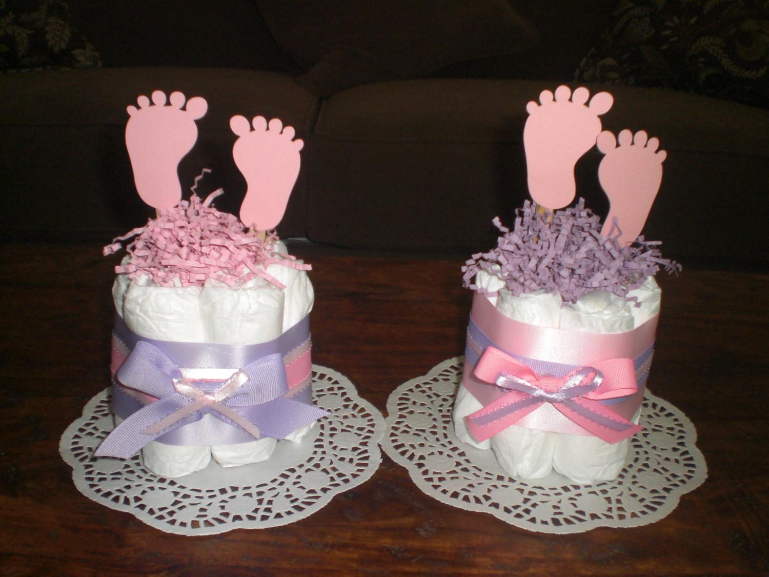 Baby Feet Diaper Cake Shower Centerpieces Other Sizes