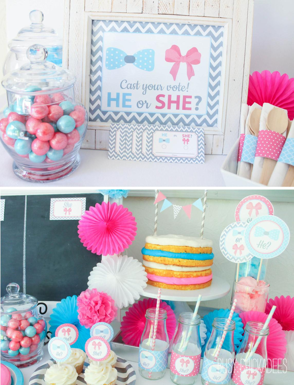 Baby Gender Reveal Party Ideas Shower