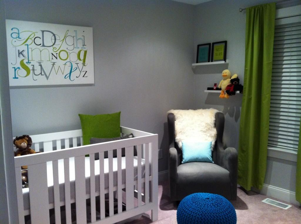 Baby Liam Eclectic Nursery Striped