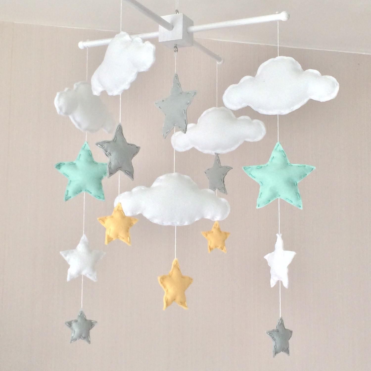 Baby Mobile Cot Clouds Stars Cloud