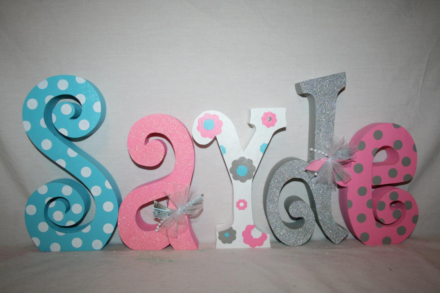 Baby Name Letters Nursery Decor Letter
