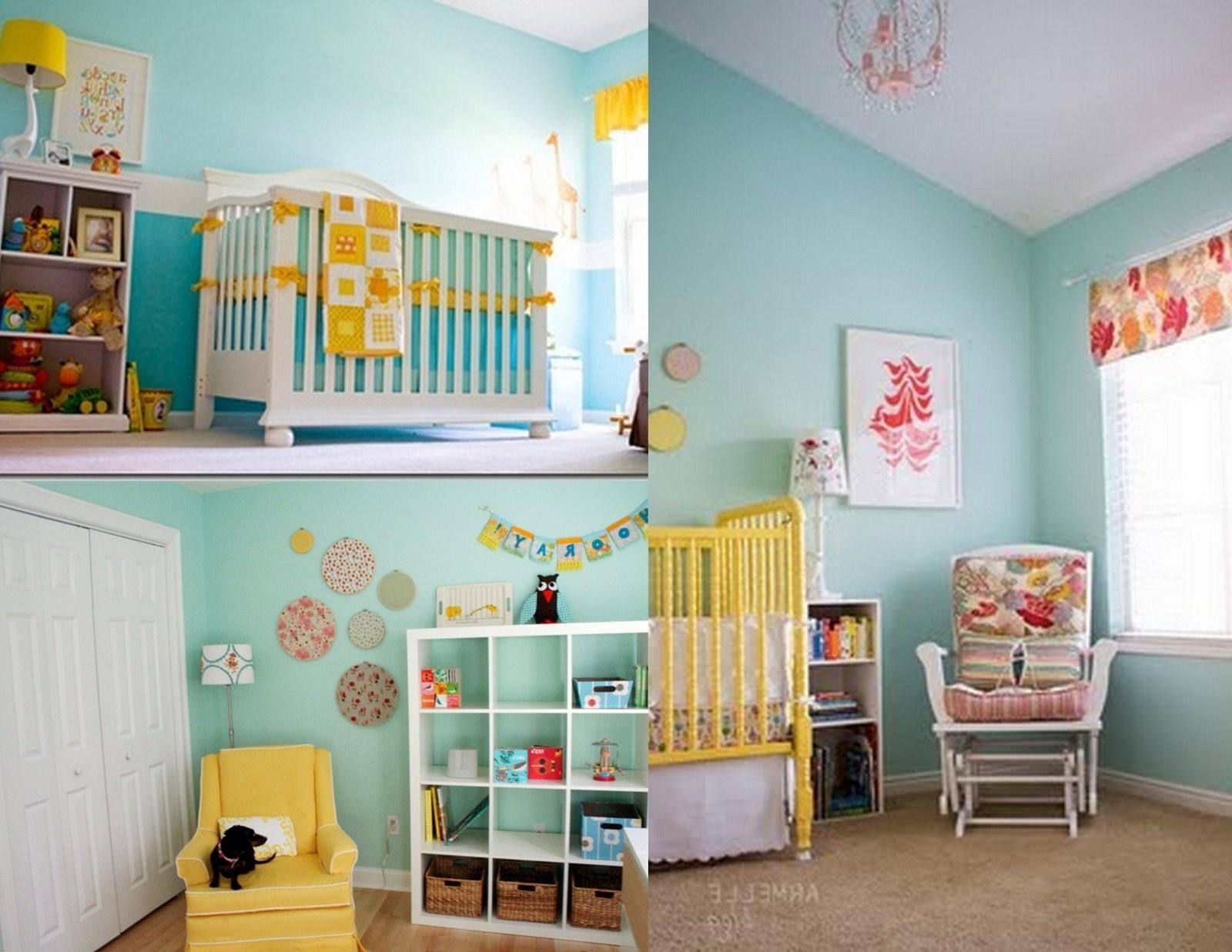 Baby Nursery Bedroom Yellow Wall Paint Decorating