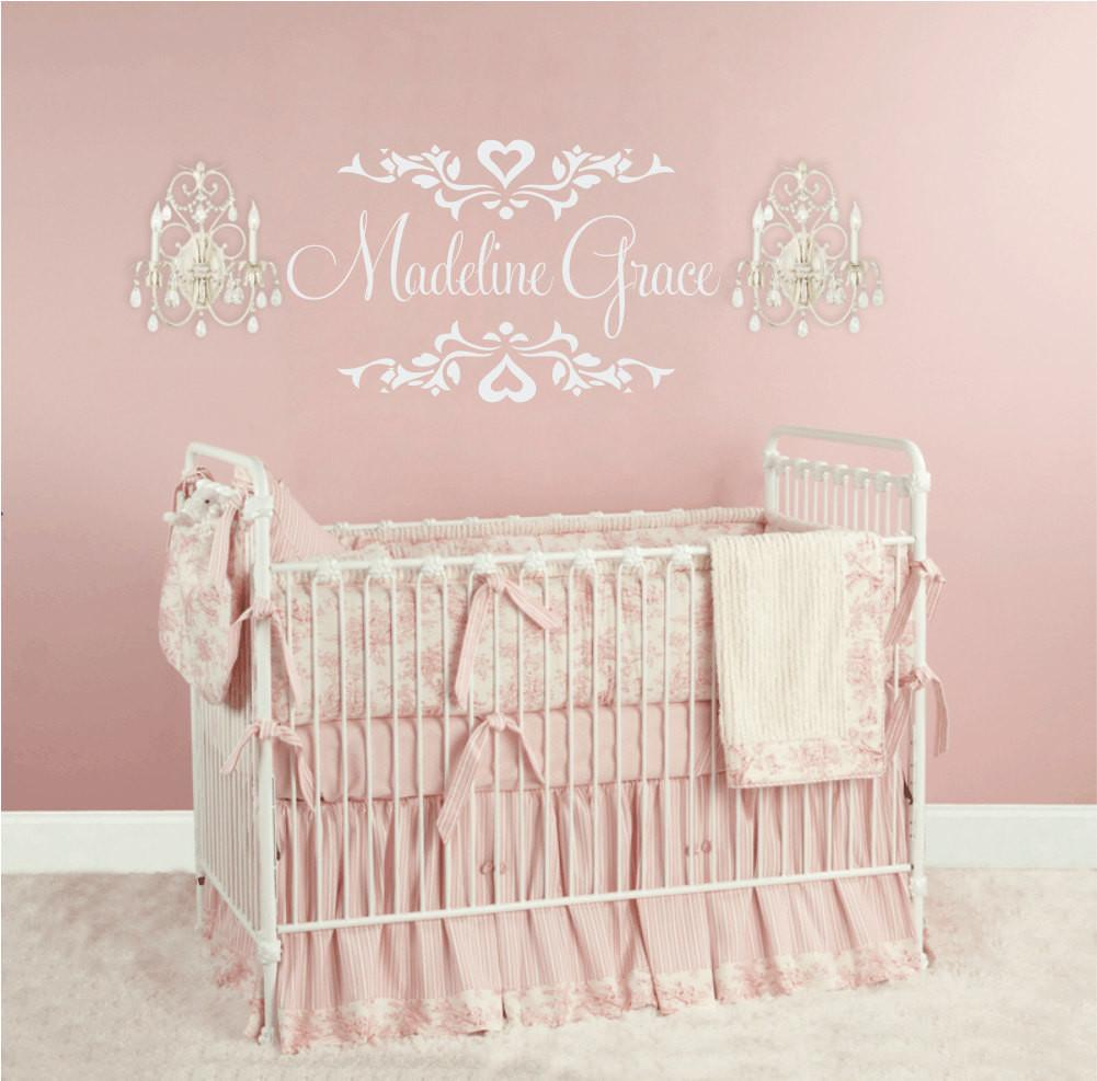 Baby Nursery Wall Decal Personalized Name